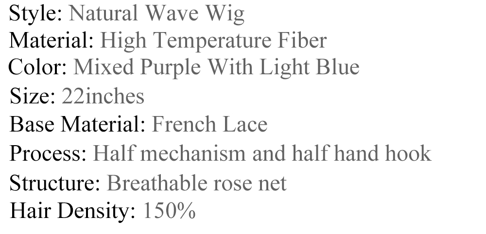 Vogue queen misturado roxo longo sintético lace