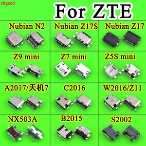 1X Micro USB Connector Socket Jack USB Connectors for ZTE Nubia Z5 S Z9 MINI W2016 Z11 Z17/17S/17mini Z19 N2 NX518J S2002 A2017