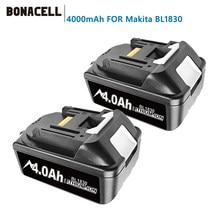 Bonacell Newest Version BL1860 18V 4000mAh Li ion Rechargeable Battery for Makita Battery 18 V BL1830 BL1840 BL1850 BL1860B L70
