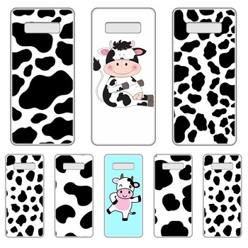 Black and white Cow Transparent Phone Case cover hull For SamSung Galaxy S 7 8 9 10 11 20 a 20e 50 51 70 71 Plus Edge Ultra image