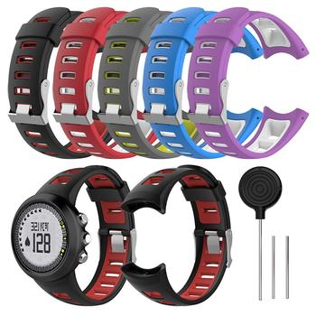 Universal Watch Band Silicone Watch Strap Wristband For SUUNTO Quest M1 M2 M4 M5 M Series Smart Watch Dual Colors image