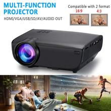 3DNew Black WiFi Wireless Projector HD 1080P LED Screen Support TV HDMI AV USB V