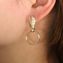 Fashion Jewelry Cute Palmd Circle Dangle Earrings Ms. Unique Design Small Geometric Gift alentines