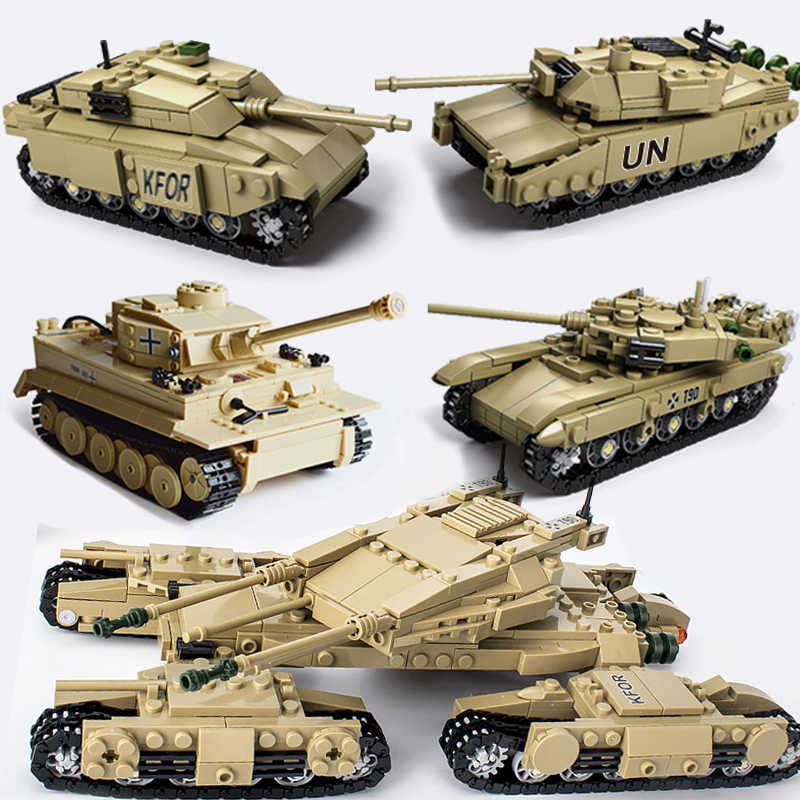 KAZI Compatible legoed Tank Tiger Century ww2 military army building blocks world war 2 ii sets Germany figure children toys