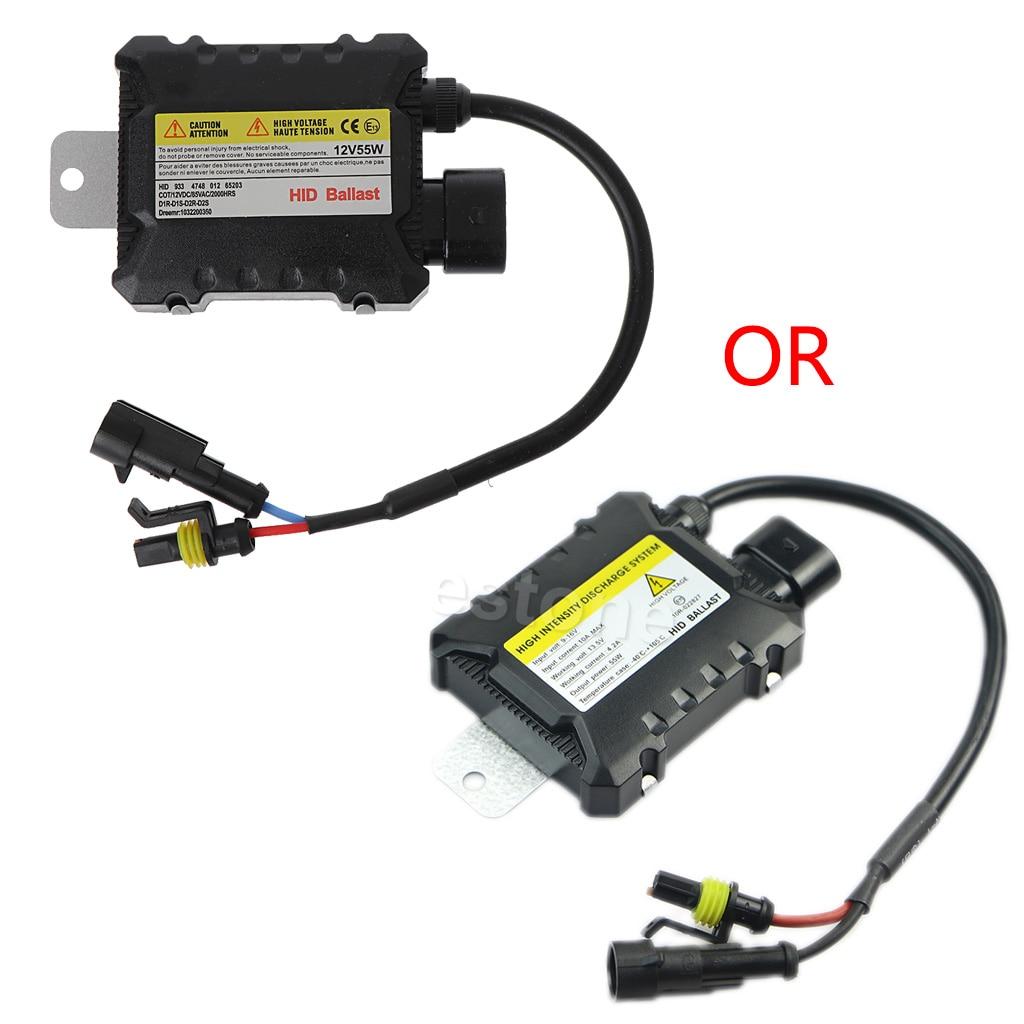 Car H7 H1 DC Electronic 55W Light Ultra Slim Ballast HID Kit For All Bulbs#T518#