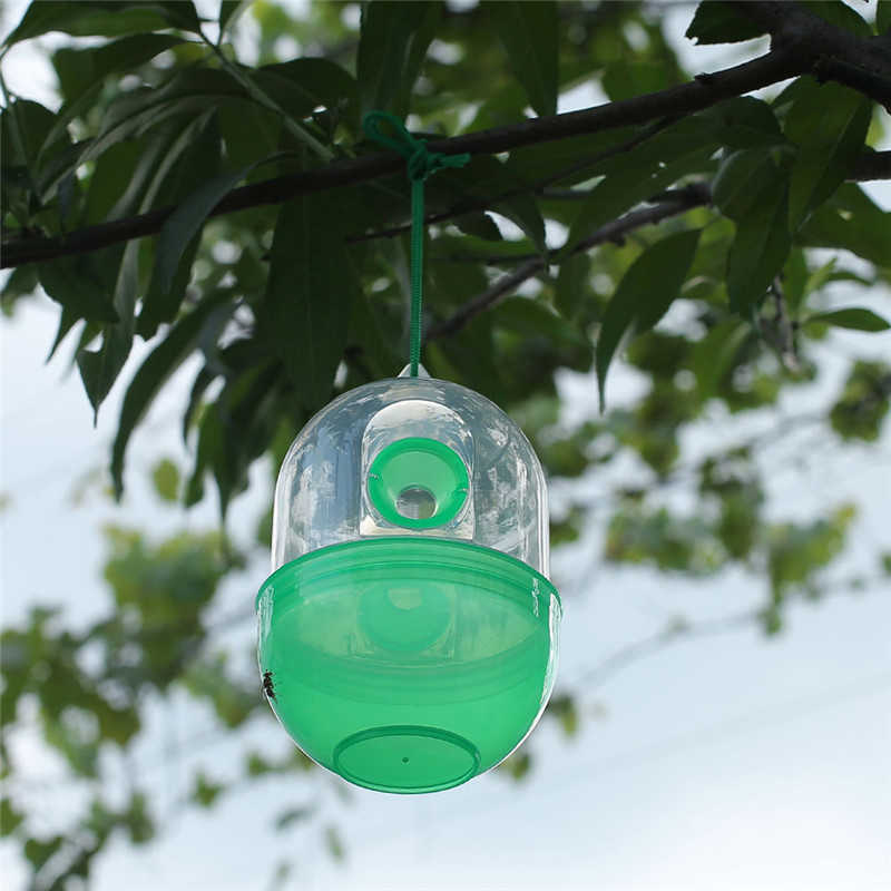 Effectieve Wesp Val Kill Pest Fruit Fly Killer Weigeren Hornet Catcher Opknoping Tuin Gereedschap Doden Bee Geel Jas Yellowjacket