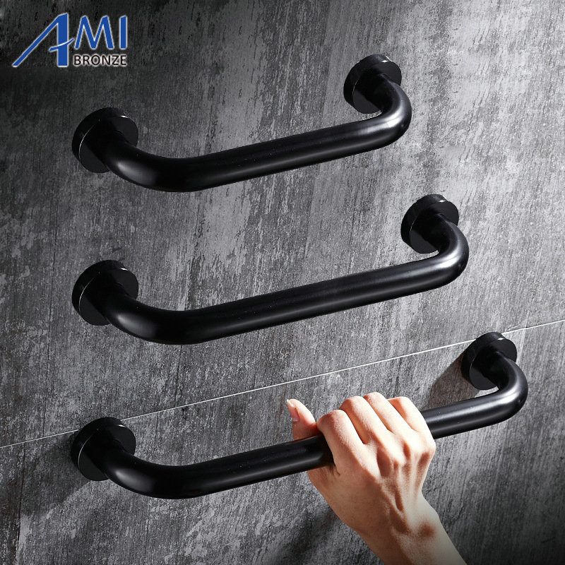 Black Space Aluminum Bathtub Grab Bars Handrails Old People Bathroom Handle Armrest Bathroom Safety & Accessories