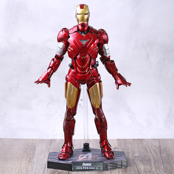 The Avengers Iron Man 2 Mark VI MK6 Action Figure with LED Light Collection PVC Model Toy