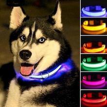 Светодиодный питомец кошачий собачий ошейник ночной безопасности светящиеся ожерелья для прогулок на открытом воздухе