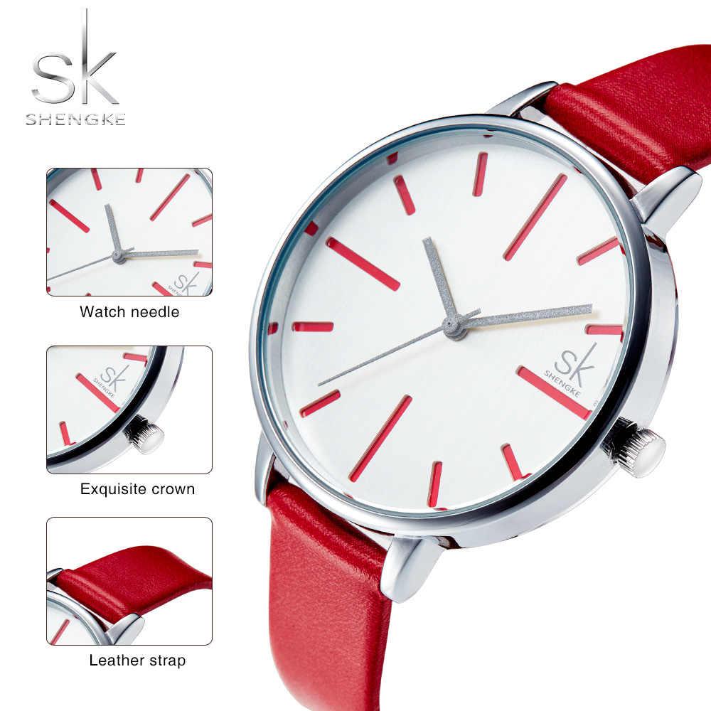 SK Ladies Casual Quartz Watches New Fashion Girls Gifts Leather Strap Ladies Wrist Watches Dress Watches Relogio Feminino