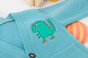 Image 4 - Toddler Boy Clothes Sets For Boy Girl Baby 2020 New Fashion Dinosaur 3pcs Knit Coat Shirt Jeans Set Clothing Boys 1 2 3 4 Year