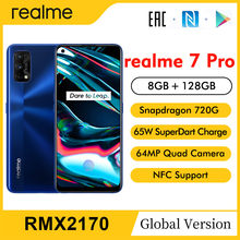 Realme 7 Pro RMX2170 Nfc Global 6.4 ''Fhd + 8Gb 128Gb 64MP 4500Mah Smartphone Snapdragon 720G 65W Superdart Lading Mobiele Telefoon