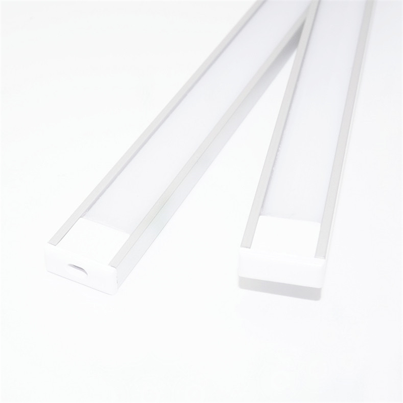 Image 2 - 20inch 0.5m/pc, LED aluminum profile matte diffuser flat ultra slim led channel for 12mm pcb,5V 12V 24V tape light housing-in LED Bar Lights from Lights & Lighting
