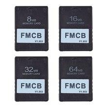 FMCB v1.953 kart hafıza kartı için PS2 Playstation 2 ücretsiz McBoot kartı 8MB 16MB 32m 64MB OPL MC çizme Program kartı
