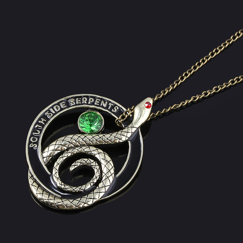MIDY Classic Tv Riverdale Snake Necklaces Vintage South Side Serpents Letter Round Pendant Choker Movie <font><b>Fans</b></font> Gifts <font><b>Jewelry</b></font> image