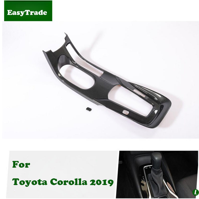 Car styling Central Gear Shift Frame Decoration Cover Trim Sticker For Toyota Corolla 2019 accessories car
