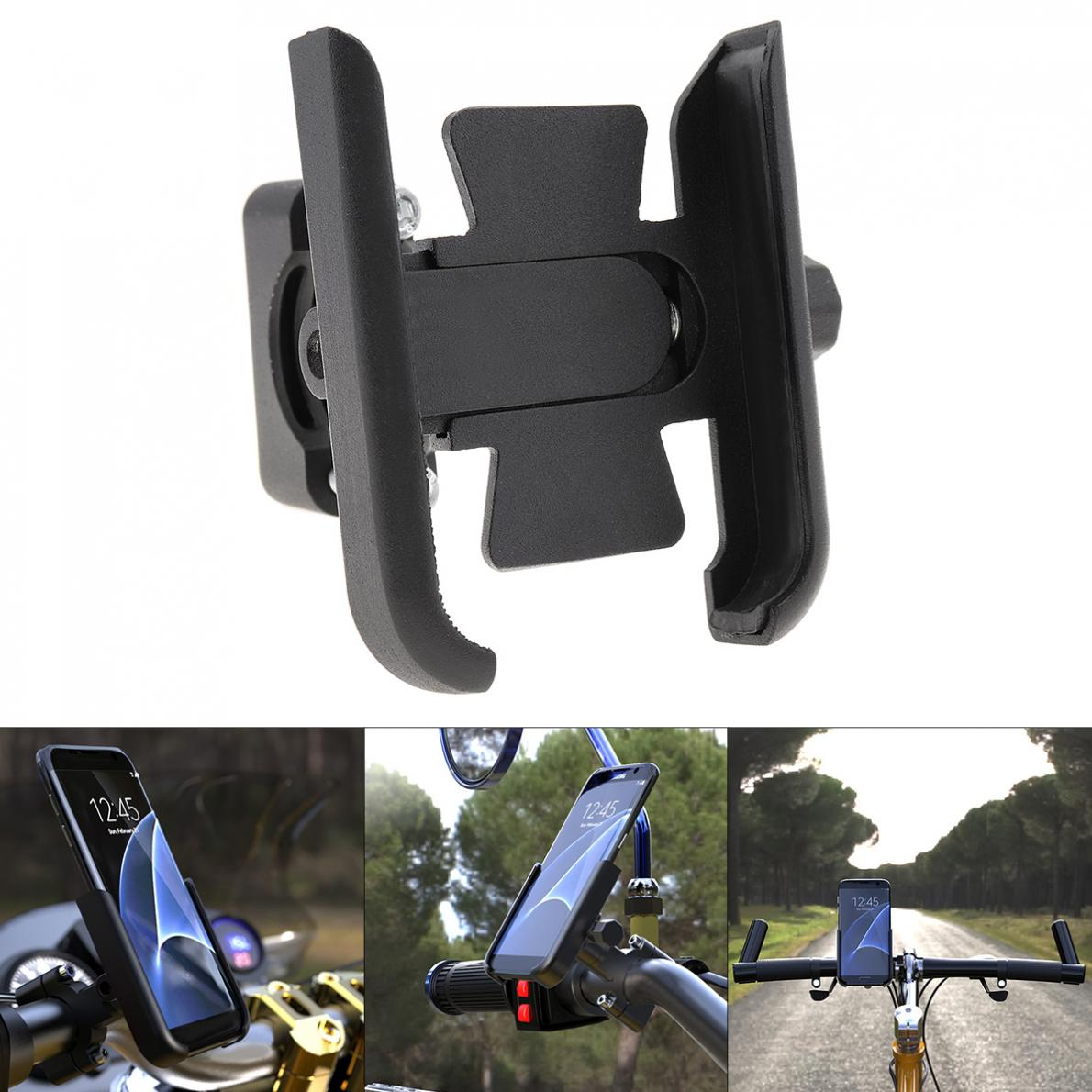 Universal Aluminum Alloy Motorcycle Phone Holder Support Telephone Moto Holder For GPS Bike Handlebar Holder