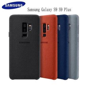 Image 1 - Samsung S9 durumda orijinal hakiki süet deri donatılmış koruyucu kılıf Samsung S9 artı S9 + EF XG9650 9500 için Galaxy s9 kapak