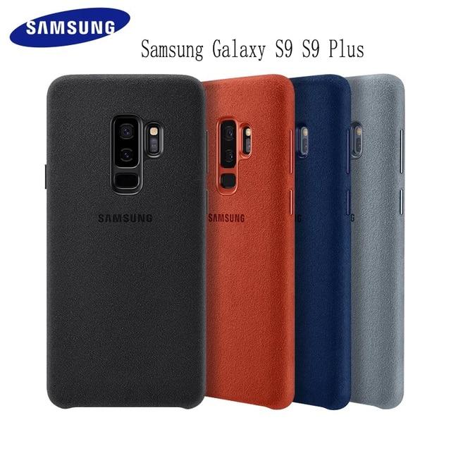 Samsung S9 durumda orijinal hakiki süet deri donatılmış koruyucu kılıf Samsung S9 artı S9 + EF XG9650 9500 için Galaxy s9 kapak
