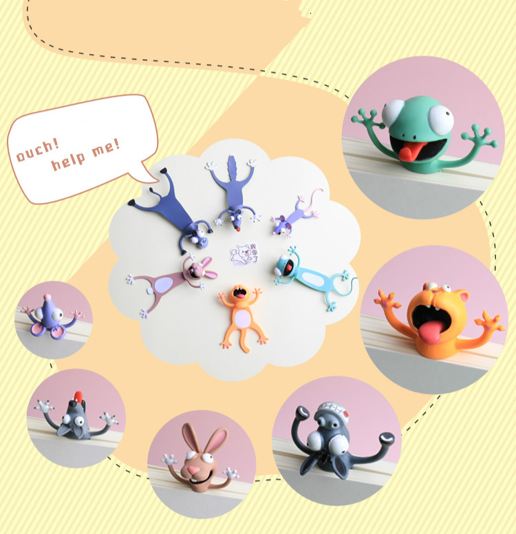 Kawaii Funny Squashed 3D Animals Bookmarks