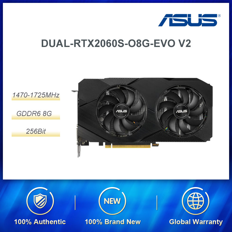 ASUS DUAL Rtx 2060 Super NVIDIA GeForce RTX 2060 SUPER 8G With 8GB GDDR6 256-bit Memory DP/HDMI Interface Gaming Graphics Card