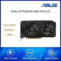 ASUS DUAL Rtx 2060 Super NVIDIA GeForce RTX 2060 SUPER 8G z 8GB GDDR6 256-bitowa pamięć interfejs DP/HDMI karta graficzna do gier