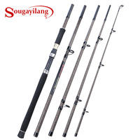 Sougayilang 3M Spinning Angelrute Tragbare 5 Abschnitt Karpfen Angelrute Fest Carbon Fiber Reise Angelrute Tackle