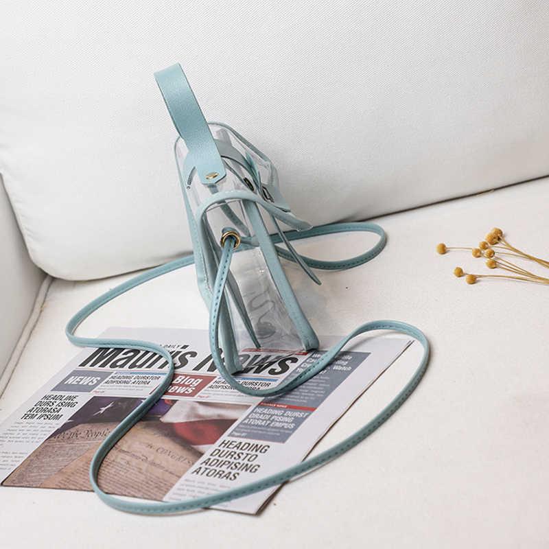 Vrouwen Schouders Tas Fashion Lady Jelly Pakket Lock Crossbody Bag Transparant Pvc Portemonnee Zomer Strand Mobiele Telefoon Messenger Bag