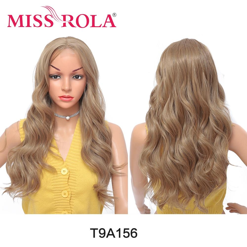 Parrucche sintetiche per capelli MISS ROLA fibra ad alta temperatura parrucca da donna ondulata lunga di dimensioni medie parrucca sintetica Ombre per capelli laterali parte naturale