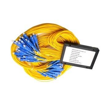 SC/ UPC Fiber Optic PLC Splitter 1x64 PLC Splitter Optical Coupler Fiber Optical PLC Splitter modules With Box type