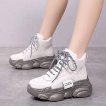 Зимние ботинки для женщин; Кроссовки на платформе; Плюшевые