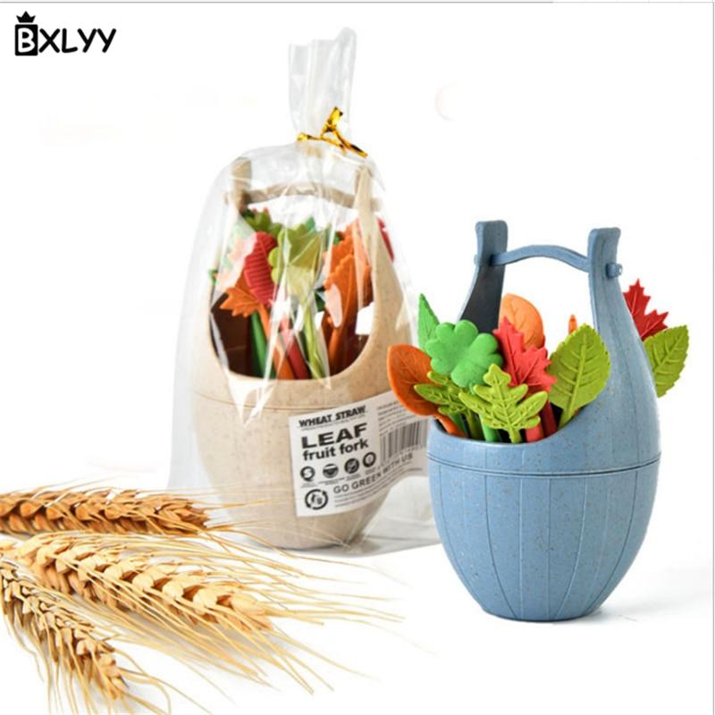 BXLYY кухонные аксессуары креативная фруктовая вилка DIY украшения для дня рождения детская пластиковая фруктовая Вилка Набор гаджетов. 85z