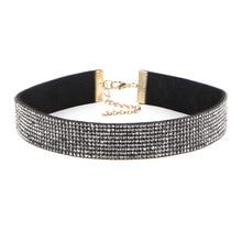 цена на Luxury Full Rhinestone Choker Necklace For Women Elegant Temperament Wedding Party Jewelry 2020 Newest