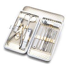 Recém 12 pçs/set Nail Manicure Pedicure Set cortador de Unhas Tesoura Pinça Ferramenta com Caso para Nail Art CLA88