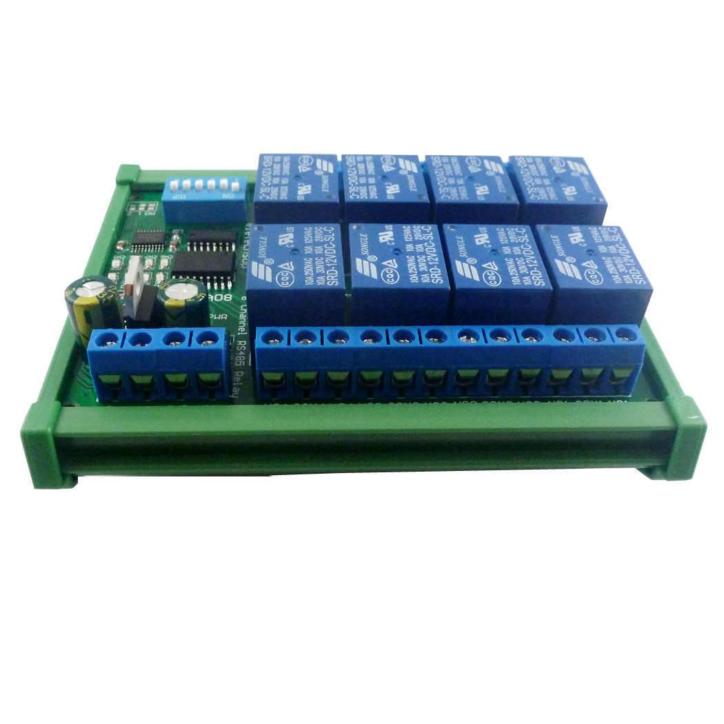 8-Kanal Modbus Relais Modul 8 Bit Modbus RTU Schaltsignal Eingang Ausgang RS485 TTL Controller mit Optokopplerisolation
