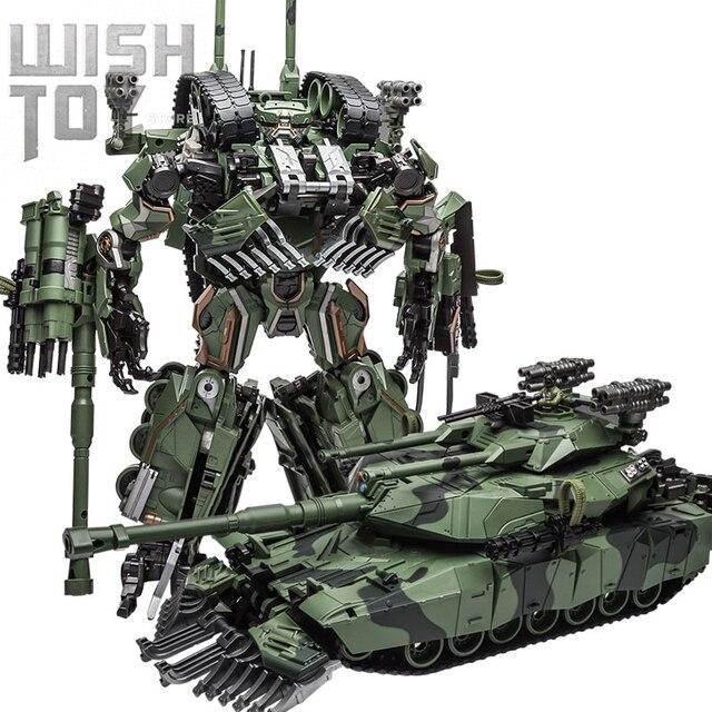 WJ التحول اللعب شجار سبيكة 28 سنتيمتر SS زعيم التمويه M04 خزان M1A1 وضع KO عمل الشكل روبوت نموذج جمع الهدايا