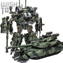 WJ 변환 장난감 싸움 합금 28CM SS 리더 위장 M04 탱크 M1A1 모드 KO 액션 피규어 로봇 모델 컬렉션 선물