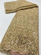 NI.AI – tissu africain en dentelle Guipure grise, broderie, avec paillettes, de haute qualité, style nigérian, pour mariage, XY3672