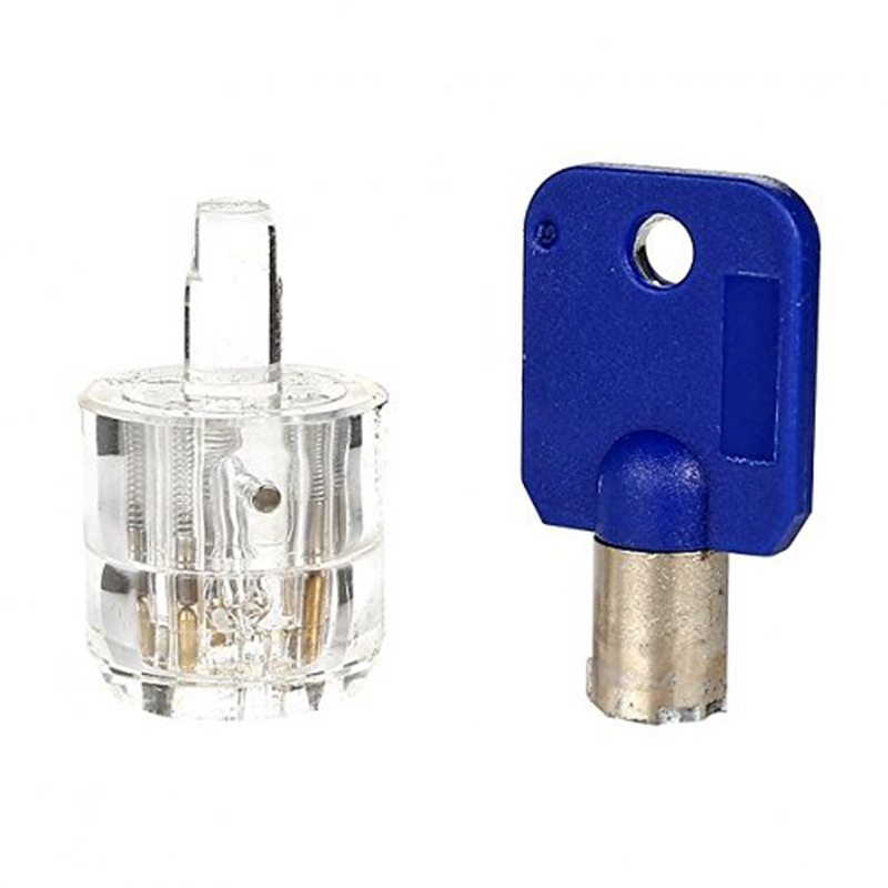 7 Pins Tublar Lock Professional Cutaway Inside view of Practice Keyed Padlock Training Skill for Locksmith