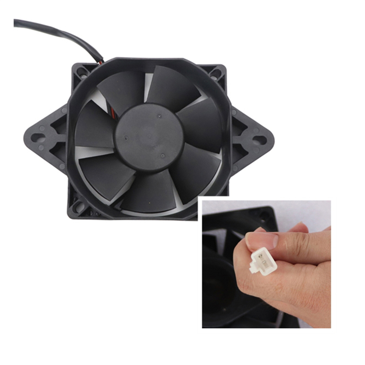 Electric ATV Radiator Cooling Fan Radiator Cooling Fans For CRF YZF KXF RMZ KLX DRZ Quad ATV Go Kart Buggy Motorcycle Accessorie