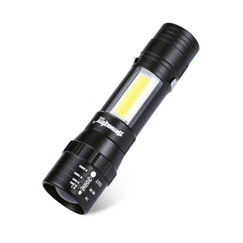 Skywolfeye Mini Telescopic COB Bright Aluminium Alloy LED Flashlight Outdoor Multifunctional Flashlight