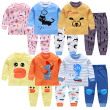 Kids Boys Pajama Sets Cartoon Print Long Sleeve O-Neck Cute