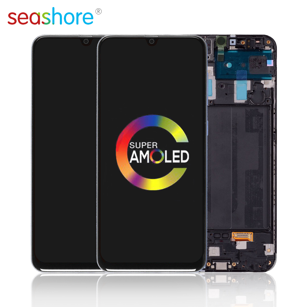 """6.4""""AMOLED For SAMSUNG Galaxy A30 LCD Touch Screen Digitizer Assembly For Samsung A30 Display with Frame Replacement SM-A305 LCD"""