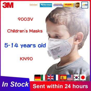 Máscara de boca 3M 9003V máscara de niño máscaras con filtro de válvula de respiración máscara de cara transpirable máscara de Niño para niños KN90 9003 Earloop