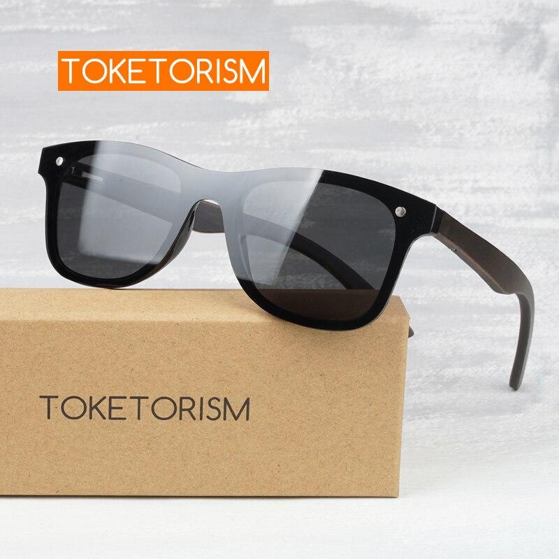 Toketorism mens sunglasses brand designer wood polarized shades for women 4051