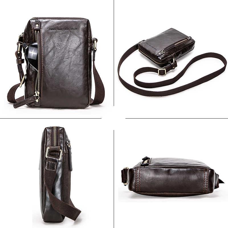 Gravure gratuite de Contact en cuir véritable sacs de messager pour 7.9 'ipad sac à bandoulière décontracté homme sac à bandoulière pour hommes