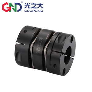 Flexible coupling 45# steel double disc diaphragms high torque for servo motor clamp series for 3D print Shaft Couplings Home Improvement -
