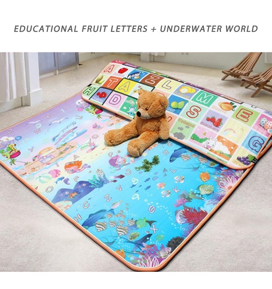 prova dwaterproof água piso crianças desenvolvendo tapete