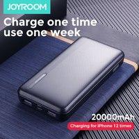 Joyroom Power Bank 20000 Mah 2 Usb Powerbank 10000 Mah Mico Type C Batterie Externe Draagbare Oplader Poverbank Externe batterij-in Power Bank van Mobiele telefoons & telecommunicatie op