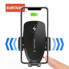 10W araç kablosuz şarj için samsung s10 artı QI kablosuz hızlı şarj araç telefonu tutucu iPhone Xiaomi Huawei için araç şarj